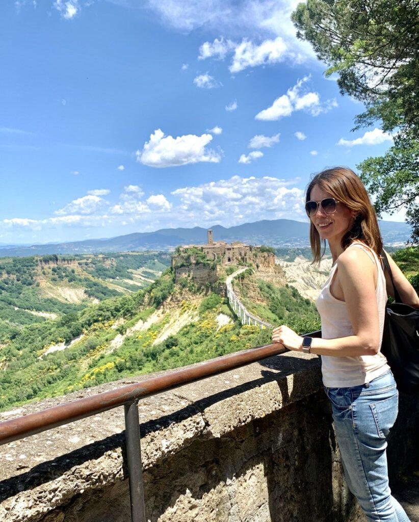 H θέα  της Civita από το Bagnoreggio